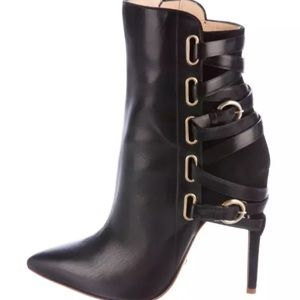 Jerome C. Rousseau Black Jiro Leather Boots Sz 6